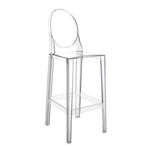 Kartell Стул барный ONE MORE crystal 38x100x65
