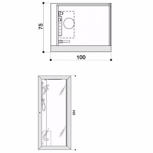 Душевая кабина Jacuzzi Frame 9448-262A
